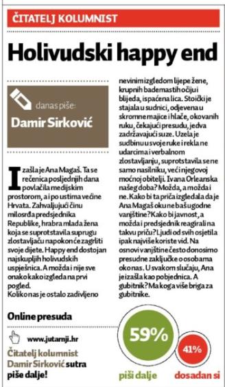 Хрватските печатени медиуми 2 – Jutarnji