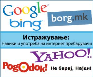 Истражување: Навики и употреба на интернет пребарувачи