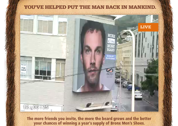 Facebook кампања: пораснете му ја брадата