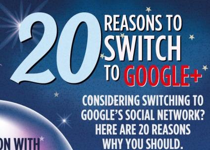 20 причини да се префрлите на Google+